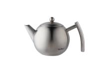 VonShef 1 Liter Seidenmatte Edelstahl-Teekanne mit Sieb
