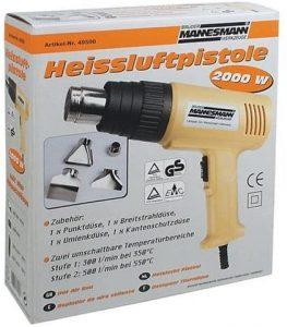 Produktbeschreibung desBrüder Mannesmann Heissluftgebläse M49500