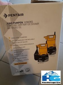 Jung Pumpen Tauchpumpe U3KS im Test Verpackung