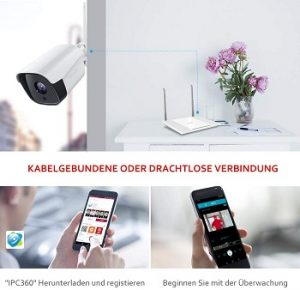 Produktdetails aus Victure 1080P Outdoor WLAN IP Überwachungskamera Tests